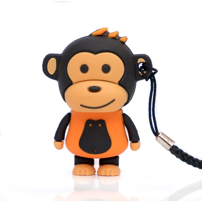 Pendrive 16GB tech1tech Makako Mono Naranja