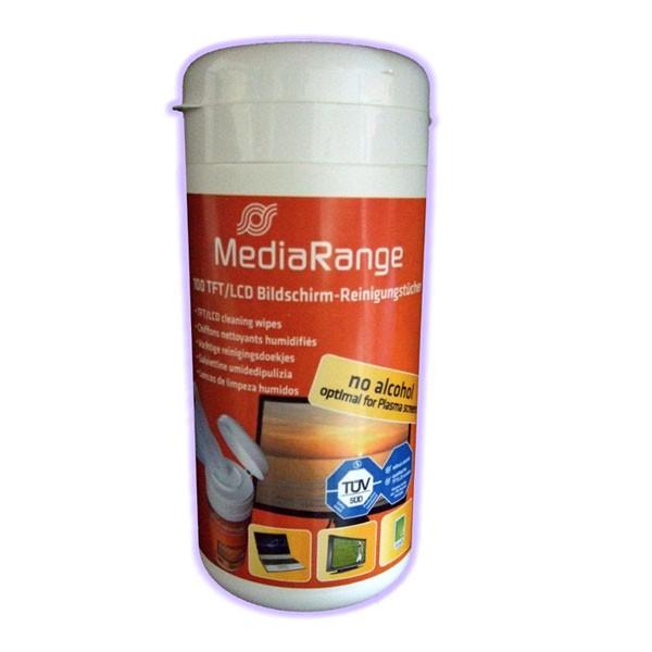 MediaRange Toallitas Limpia TFT/LCD/Plasma (100 Pack)