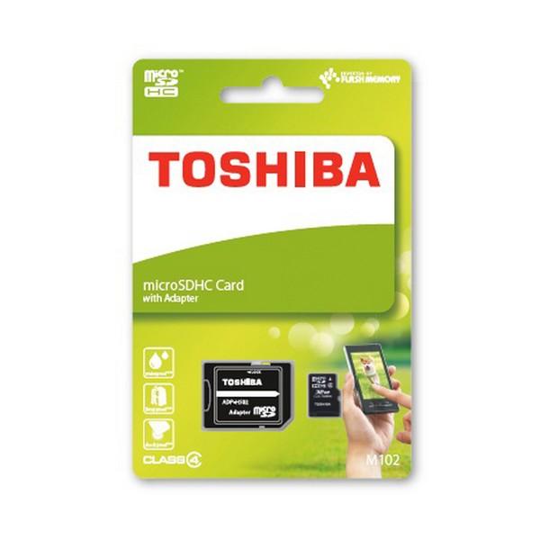 Tarjeta MicroSDHC 16GB Clase 4 Toshiba M102 (Adapt)