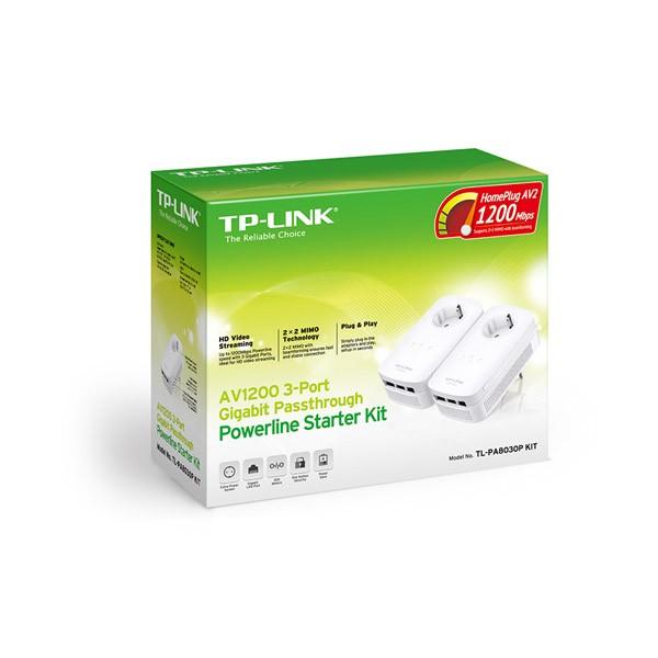 Kit de Inicio PowerLine Gigabit AV1200 con Enchufe TP-Link TL-PA8030P KIT