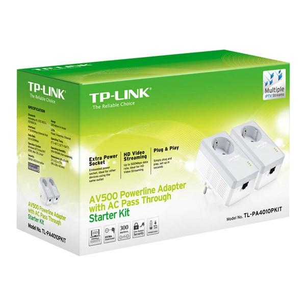 Kit PowerLine AV500 con Enchufe Incorporado TP-Link TL-PA4010PKIT