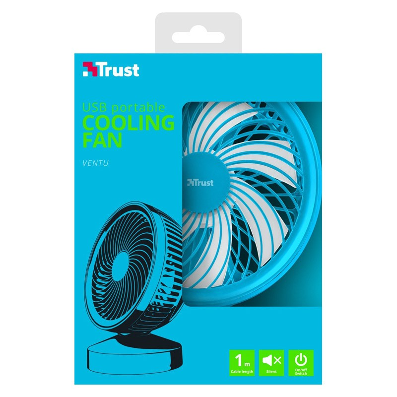 Mini Ventilador USB Trust Ventu Azul