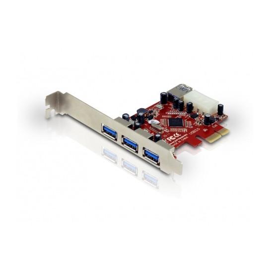 Tarjeta PCI Express 4 Puertos USB 3.0 Conceptronic C05-138