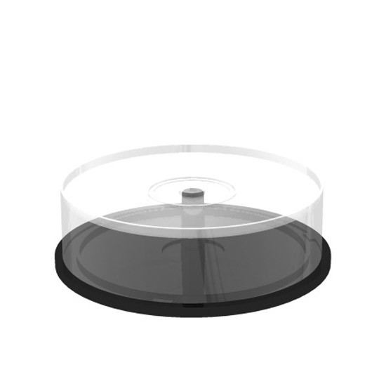 Tarrina Vacía Transparente MediaRange 25 Discos (Cakebox)