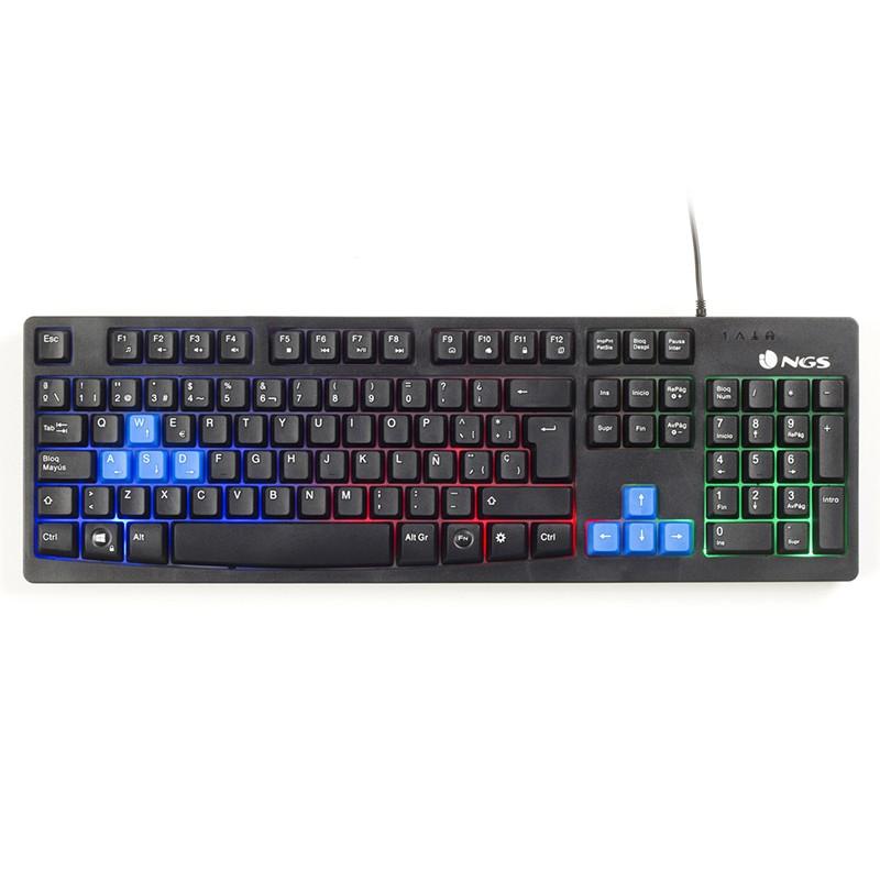 Teclado USB Gaming NGS GKX-300 LED