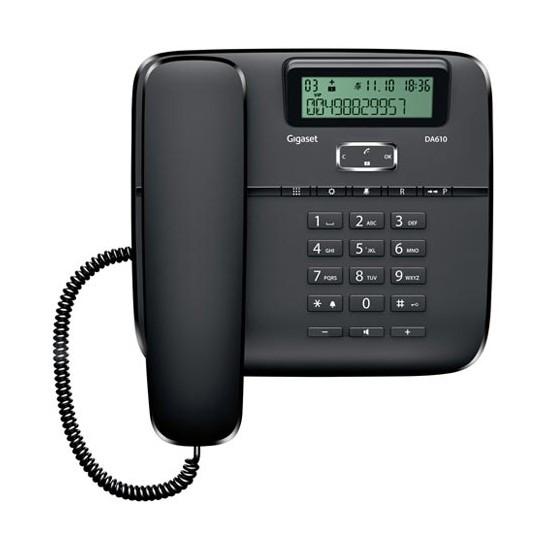Telefono Fijo Gigaset Euroset DA610 Negro