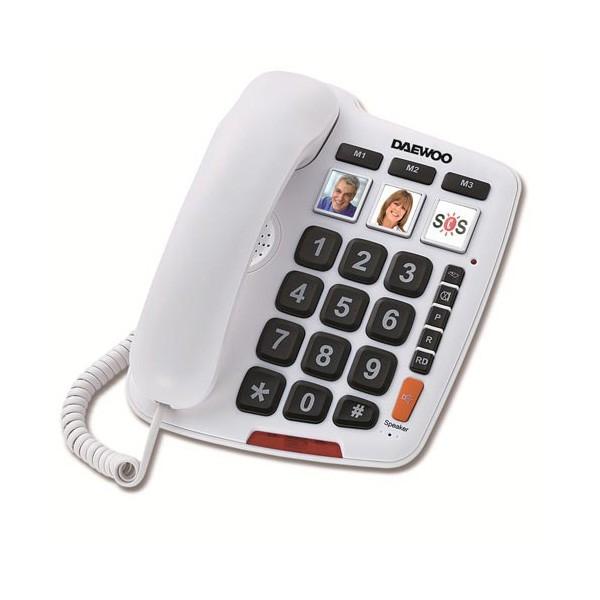 Telefono Fijo Teclas Grandes Daewoo DTC-760