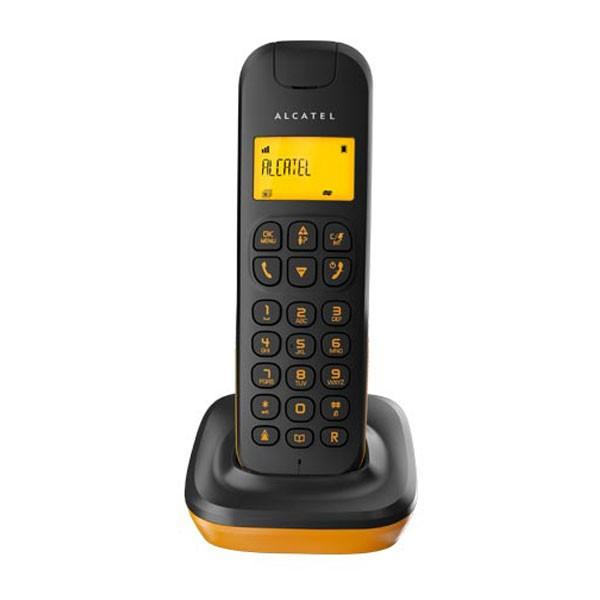 Telefono inalambrico alcatel d135 negro/naranja