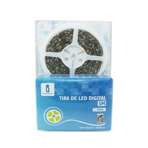 Tira LED Color Impermeable Seleccionable Mod 178932 (Kit Completo 5M)