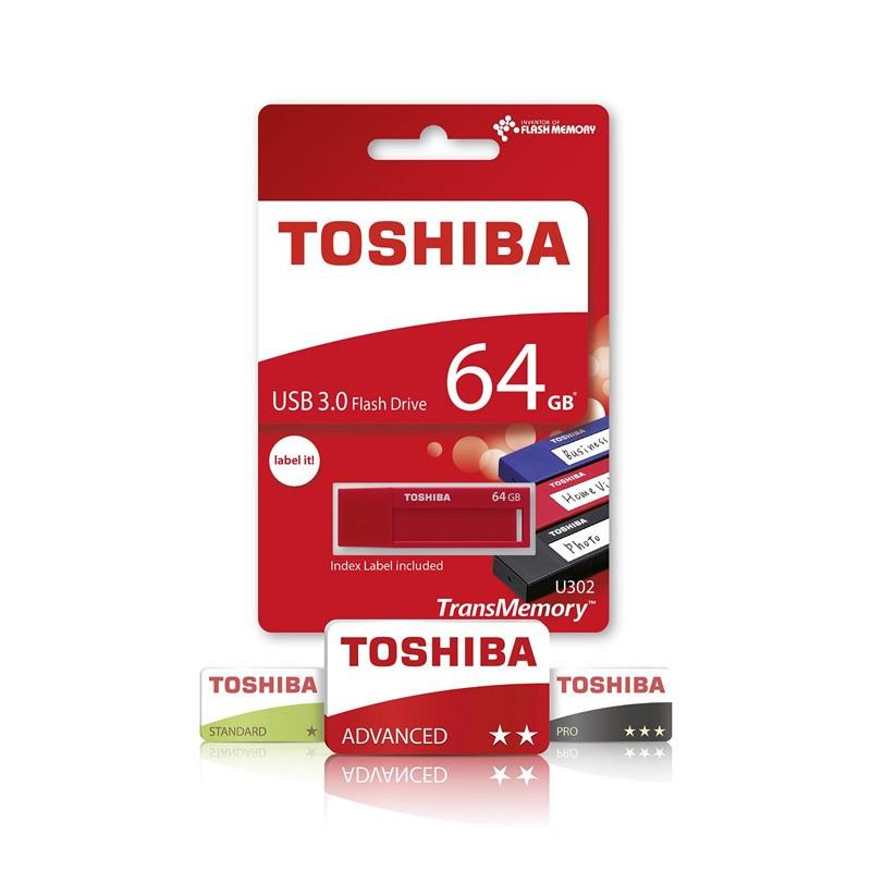 Pendrive 64GB Toshiba TransMemory U302 - Daichi USB 3.0 Rojo