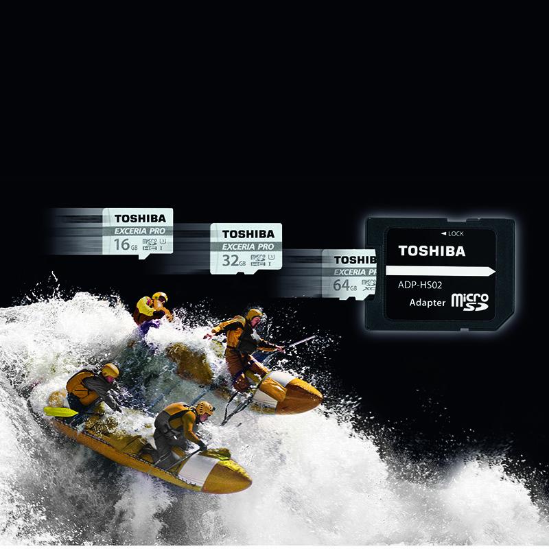 Tarjeta MicroSDXC 64GB Clase 10 UHS-I U3 Toshiba Exceria Pro M401 c/Adapt
