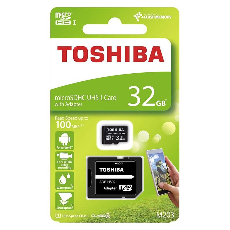 Tarjeta MicroSDHC 32GB Clase 10 UHS-I Toshiba M203 c/Adapt