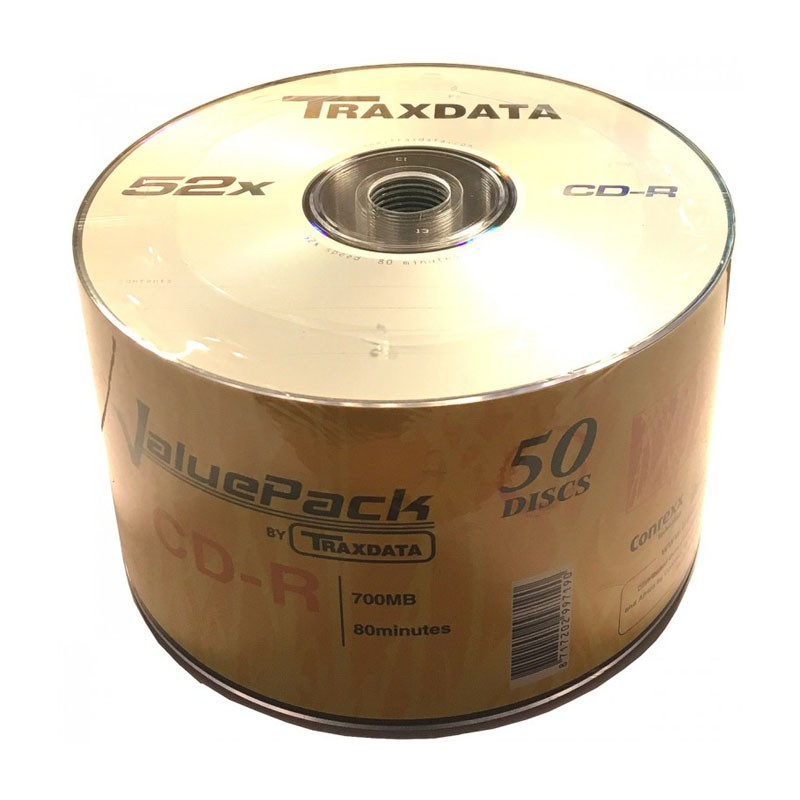 CD-R 52x 700MB Traxdata ValuePack Bobina 50 uds