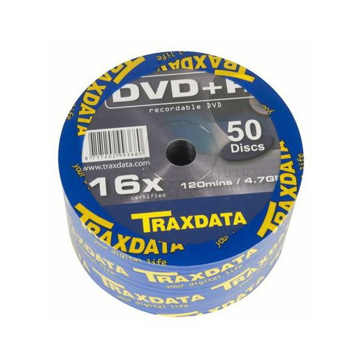DVD+R 16X Traxdata 906WEDRTRA003 Bobina 50 uds