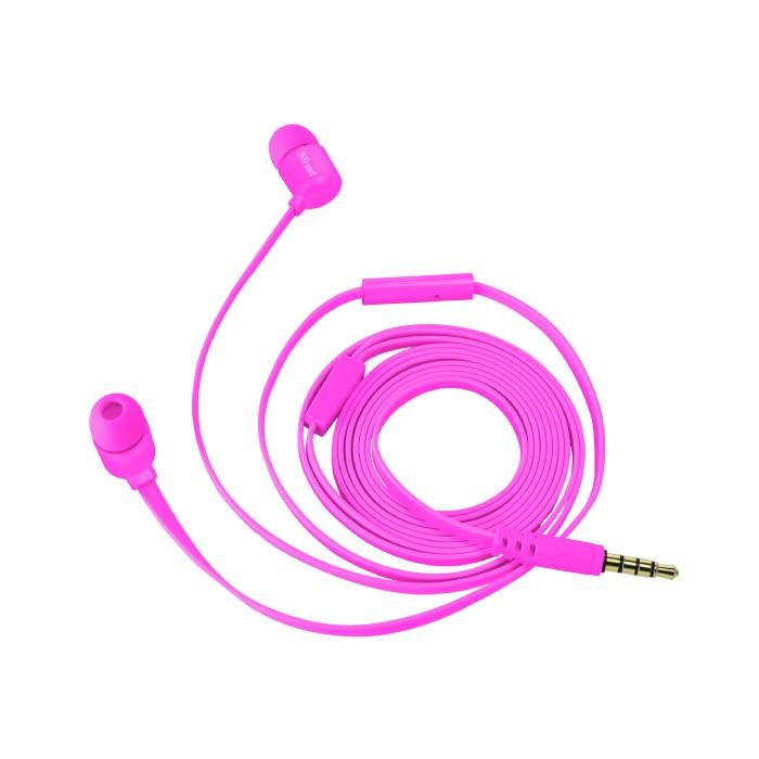 Auriculares con Micrófono Trust Duga In-Ear Neon Pink