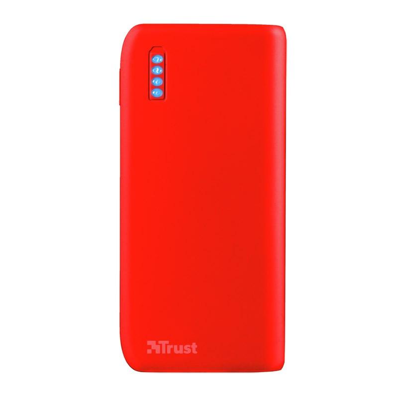 Power Bank Trust Primo 4400MAH Neon Red