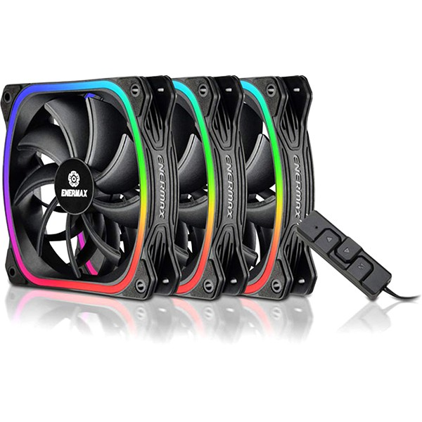 Ventilador PC Enermax SquA RGB 120mm LED (3 Unidades)