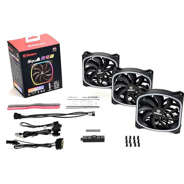 Ventilador PC Enermax SquA RGB 120mm LED (3 Unidades)
