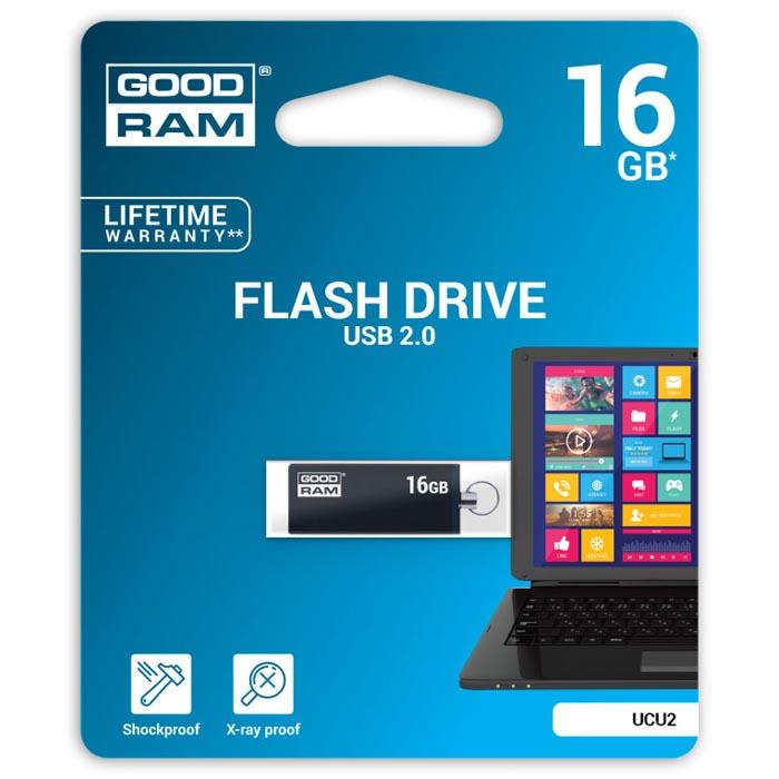 Pendrive 16GB GoodRam UCU2 Negro