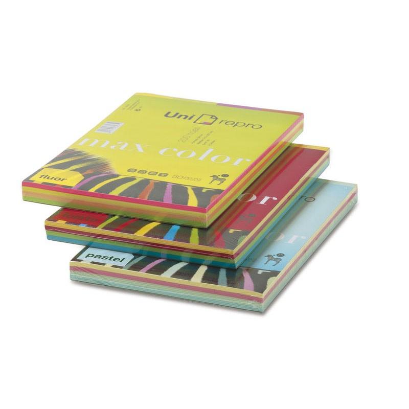 Papel Multifunción Uni-Repro Max Color Surtido Pastel DIN-A4 80g/m2 200 pcs