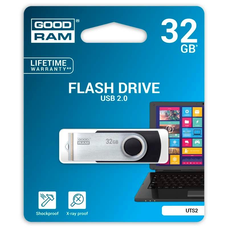 Pendrive 32GB GoodRam UTS2 Negro