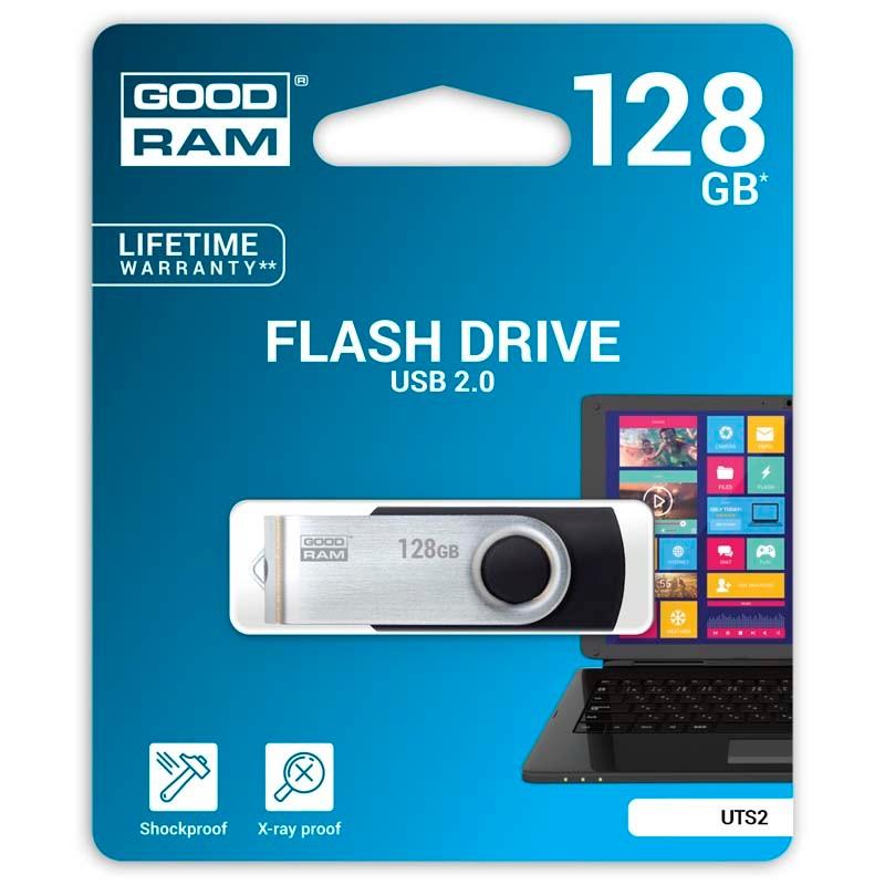 Pendrive 128GB GoodRam UTS2 Negro