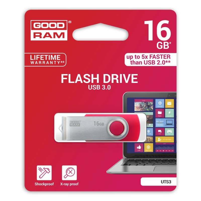 Pendrive 16GB GoodRam UTS3 Red USB 3.0