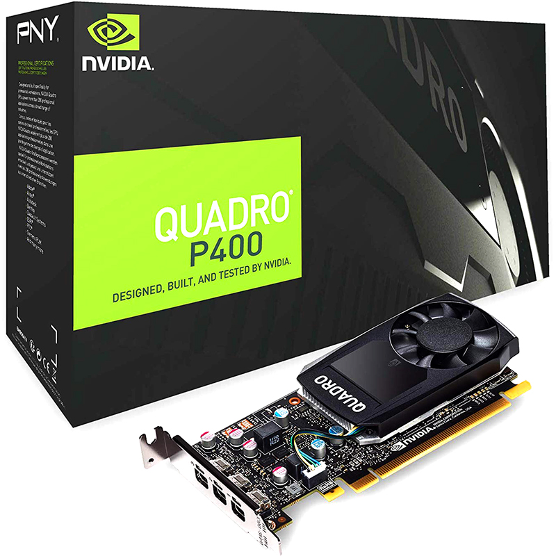 Tarjeta Gráfica PNY Quadro P400 2GB GDDR5 DVI
