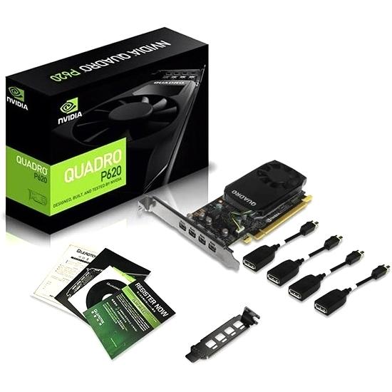 Tarjeta Gráfica PNY Quadro P620 DVI 2GB GDDR5