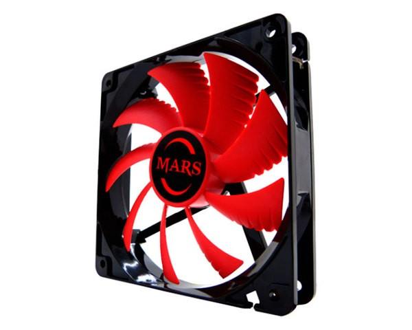 Ventilador Auxiliar Led 120MM Mars Rojo