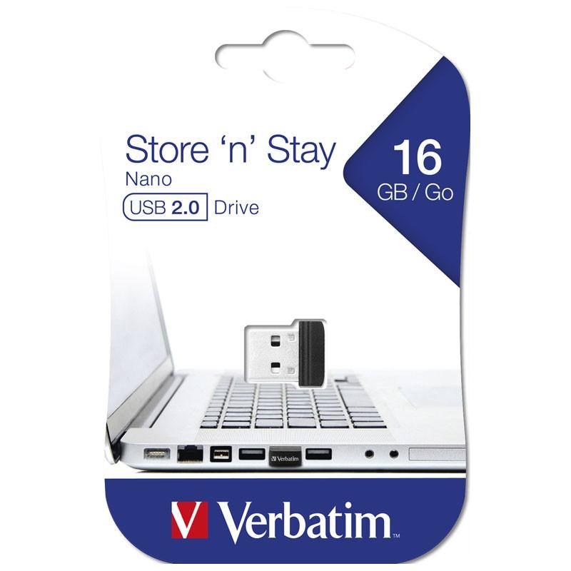 Pendrive 16GB Verbatim Store \'n\' Stay NANO
