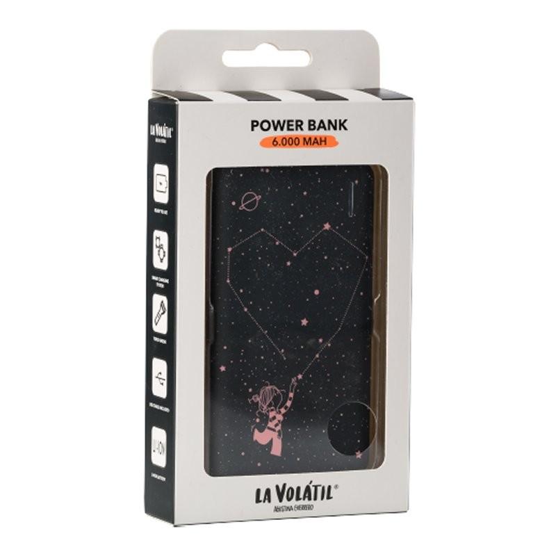 PowerBank La Volatil Estrellas 6.000mAh