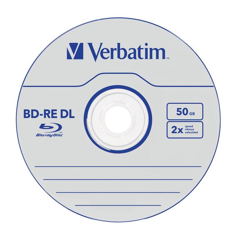 Blu-Ray BD-RE DL Verbatim 2x 50GB JewelCase 5 Uds