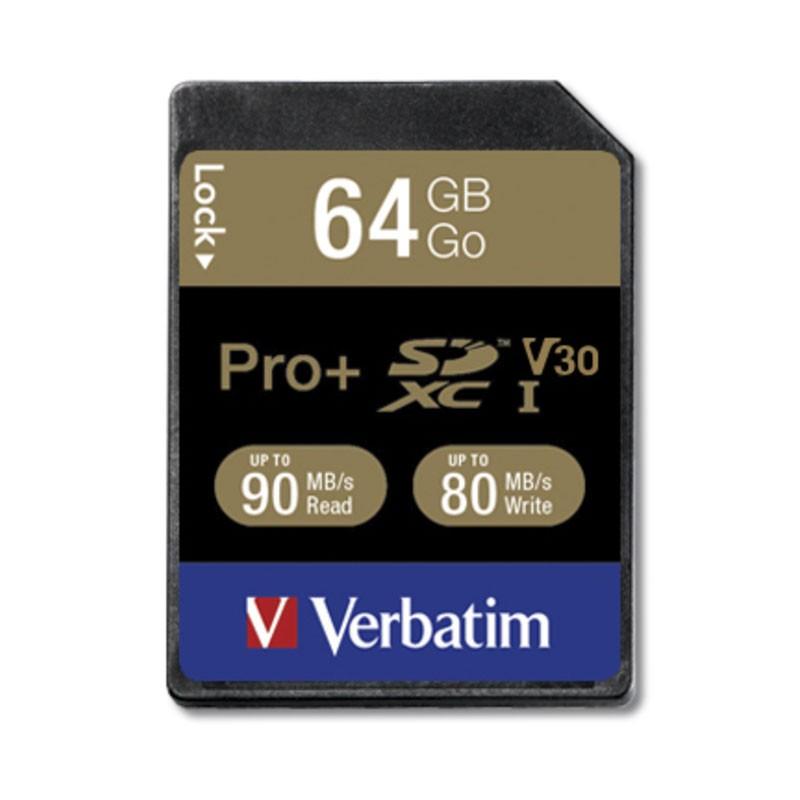 Verbatim Pro+ Tarjeta SDXC 64GB Clase 10 UHS U3