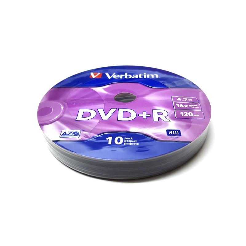 DVD+R 16x Verbatim Matt Silver Azo Bobina 10 uds