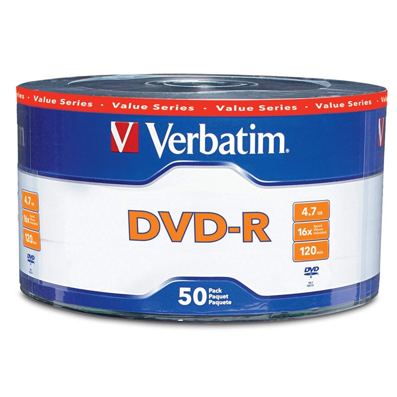 DVD-R 16x Verbatim Value Series Bobina 50 uds