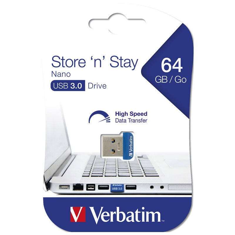 Pendrive 64GB Verbatim Store \'n\' Stay NANO USB 3.0