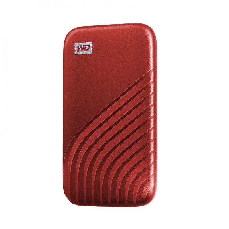 Disco Duro Externo SSD WD My Passport SSD 500GB USB-C Rojo