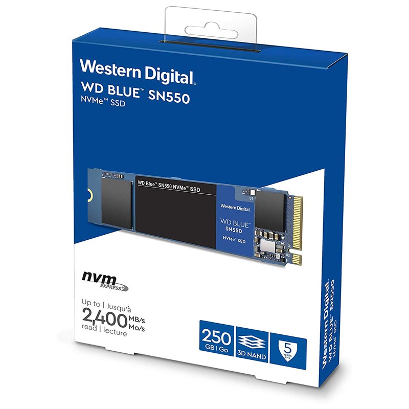 Disco Duro SSD M.2 2280 250GB WD Blue SN550