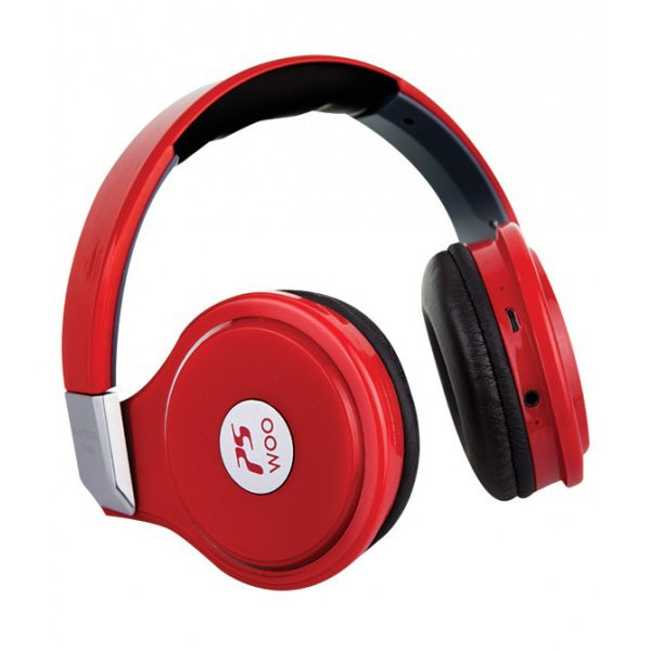 Auriculares con Bluetooth y Reproductor MP3 WOO PS400B Rojo