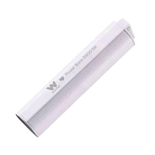 Bateria Universal Portable Power Bank Woxter 2600SR Blanco