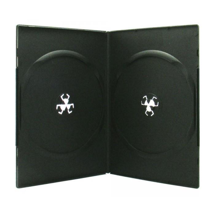 XLayerPro Caja DVD 7mm 2 Discos  50 uds - Negro