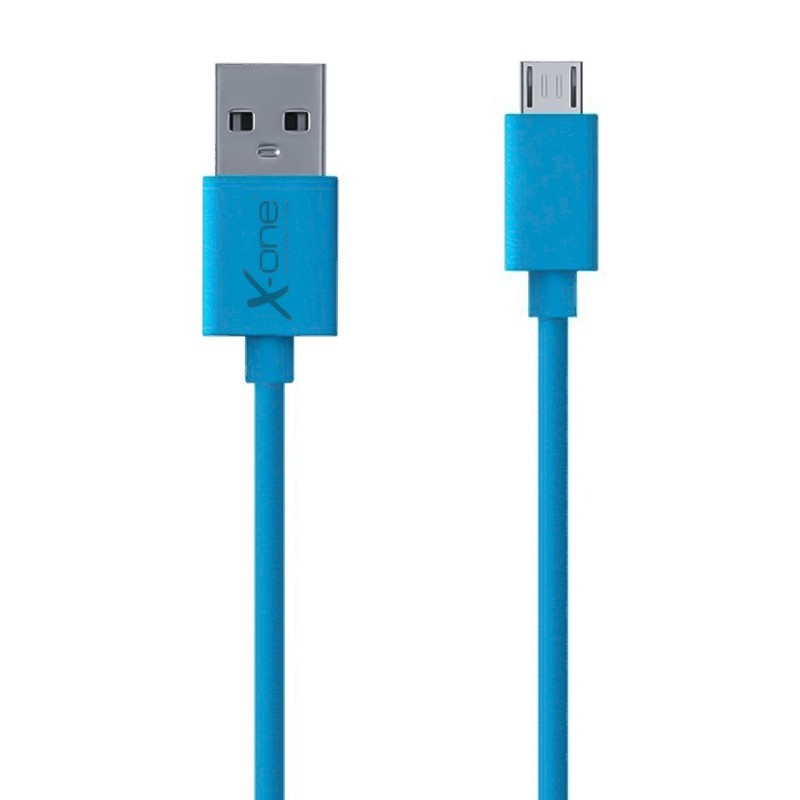 Cable Plano Micro-USB X-One CPM1000 Azul 1mtr