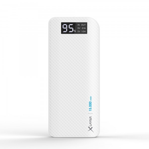 PowerBank XLayer Pure Carbon 15.000mAh Blanco