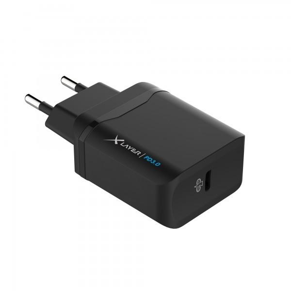 Cargador de Pared USB Tipo-C Xlayer PD Negro