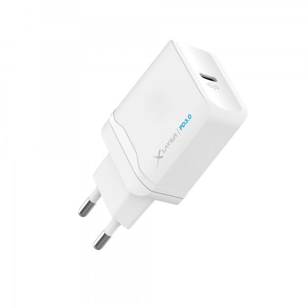 Cargador de Pared USB Tipo-C Xlayer PD Blanco