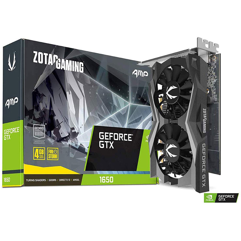 Tarjeta Gráfica Zotac GeForce GTX 1650 AMP 4GB GDDR5