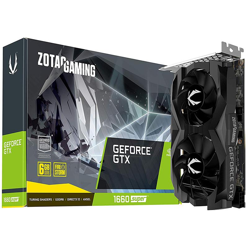 Tarjeta Gráfica Zotac GeForce GTX 1660 SUPER TWIN FAN 6GB GDDR6
