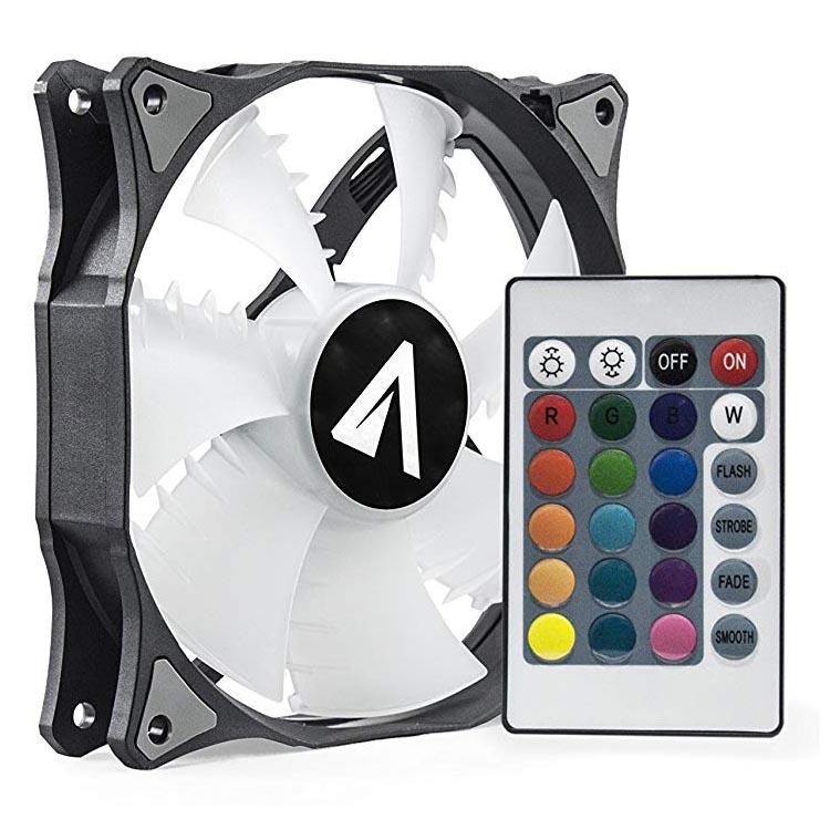 Ventilador para Caja Abysm RGB Sled 120MM con Control Remoto