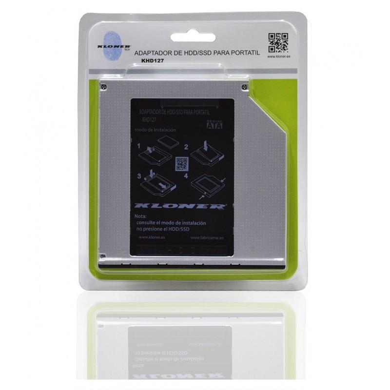 Adaptador HDD / SSD para Portátil 12.7mm Kloner